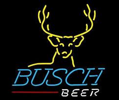 busch light neon sign busch light deer real glass light neon sign and similar items