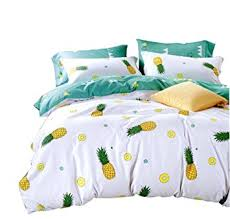 amazon com yousa pineapple bedding set 100 cotton duvet cover