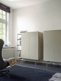 ligne roset high sideboard contemporary lacquered wood oak mixte