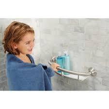 Designer Grab Bars For Bathrooms Amazon Com Moen Lr2356dbn 16 Inch Grab Bar With Shelf Brushed