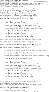 peter paul and mary song home on the range lyrics and chords