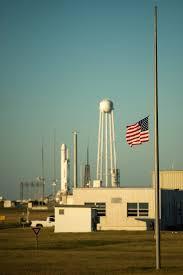 Outside Flag Flag At Half Staff At Wallops Flight Facility Nasa