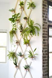 houseplant trellis diy wood and leather trellis plant wall u2022 vintage revivals