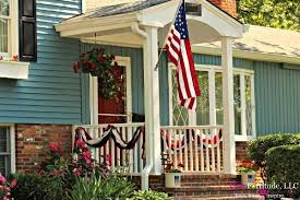 Fourth Of July Door Decorations All American Porch Decorations For The 4th Of July Pink