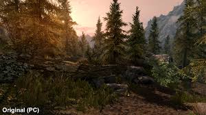 how does the skyrim remaster compare to the maxed out pc original