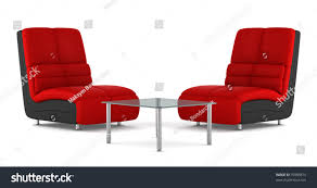 White Leather Armchairs Two Black Red Modern Leather Armchairs Stock Illustration 76988875