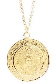 medallion pendant necklace images Vivian tamayo mayan calendar medallion pendant necklace jpg