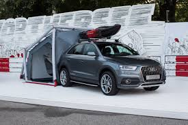 audi jeep q3 audi q3 with camping tent photo gallery autoblog