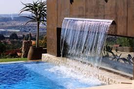 lawn u0026 garden ultra modern backyard waterfall design with brown