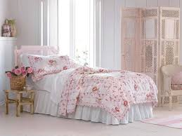 french shabby chic bedroom with floral bedding shabby chic