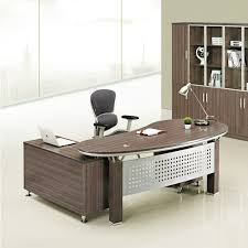 high quality office table wholesale price melamine manager curved office table with side table