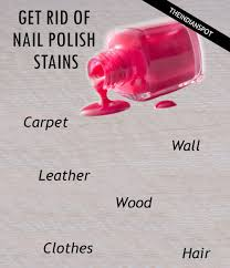 get rid of nail polish stains theindianspot