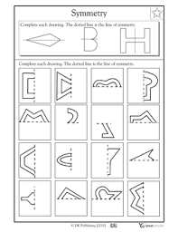 3rd grade 4th grade math worksheets lines of symmetry 2 third