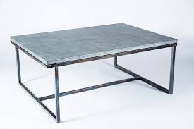foster cocktail table with patchwork zinc top boulevard urban living