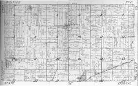 Michigan Township Map by Usgenweb Archives Branch County Mi Maps