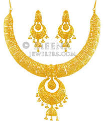 beautiful gold necklace set images Beautiful 22k gold necklace set stbr17767 exclusively designed jpg