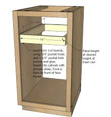 Trash Can Storage Cabinet Woodworking Cabinets Archives Woodworking Tuesday