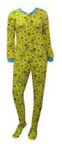 spongebob faces yellow onesie footie pajama yellow onesie