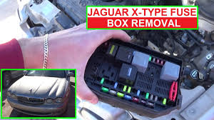 how to remove and replace the engine fuse box on jaguar x type x