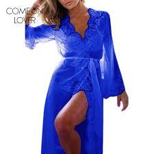 chambre erotique comeonlover automne à manches longues robe de chambre avec