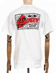 obey clothing obey clothing none of your business t shirt white obey