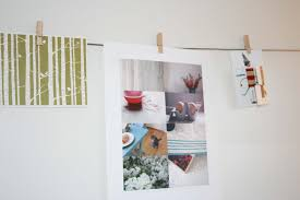Hanging Prints On A Wire Bird And Little Bird