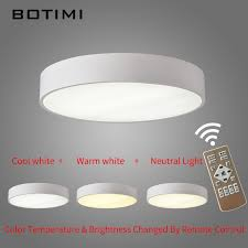 Led Bedroom White Round Ceiling - botimi led round ceiling lights in black white surface mount lamp