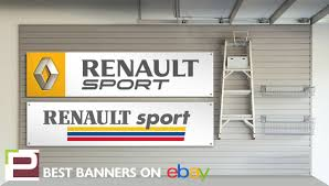 logo renault sport renault sport workshop garage banner clio megane williams r27