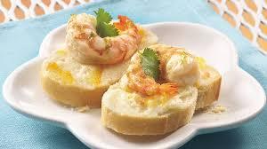 shoing canapé citrus marinated shrimp canapés recipe bettycrocker com