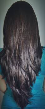 back of hairstyle cut with layers and ushape cut in back layered haircut back view 14 with layered haircut back view