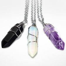 crystal necklace ebay images Quartz crystal necklace ebay jpg