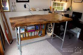 Desk Used Wood Desks For Sale Build A Wood Plank Desktop For by 37 Diy Standing Desks Built With Pipe And Kee Klamp Simplified