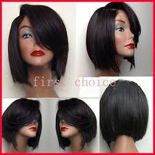 short hairstyle wigs for black women top quality short bob style hair lace front wigs synthetic cute