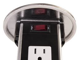 Lew Electric Pop Up Outlet by Lew Electric Pur15 S Round Countertop Pop Up 15 Amp Receptacles