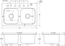 standard sink drain size elegant kitchen sink faucet hole size zhis me standard