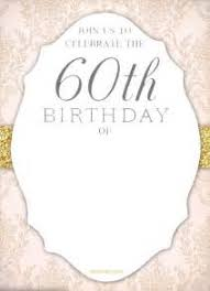 60th birthday invitation designs free 28 images 60th birthday