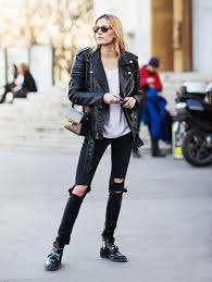 how to wear trending leather jackets for women on different