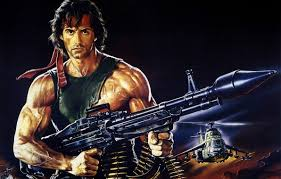 rambo headband wallpaper weapons poster sylvester stallone cartridges