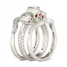 skull wedding ring sets skull wedding ring set skull wedding rings skull