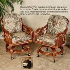 Poker Table Chairs With Casters by Chairs Dining On Casters 010 3 Leikela Rain Forest Tropical
