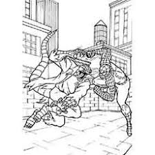 spiderman fighting dragon monster spiderman coloring pages 2