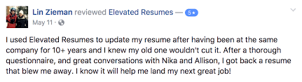 see why our past clients are raving about elevated resumes