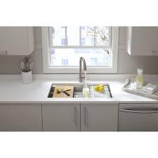 prolific stainless steel kitchen sink kohler k 5540 na prolific 33 single bowl under mount 18 gauge