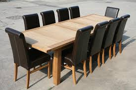 10 chair dining table set leather chair dining table sets leather roll back chairs dining side