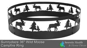 sunnydaze wild moose campfire ring 36 inch diameter sm frm101