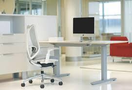 Teknion Reception Desk Workstation Desk Wood Veneer Laminate Contemporary Livello