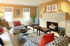 Ideas And Guidelines To Mixing  Matching Patterns In Your Home - Printed chairs living room