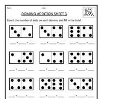 domino addition sheet 3 1st 2nd grade worksheet lesson planet
