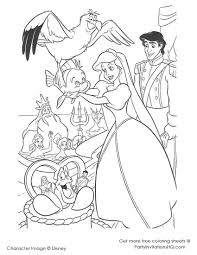 cartoon printable disney princess ariel coloring pages