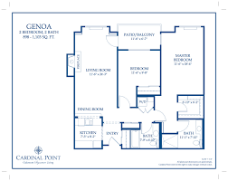 genoa floor plan u2013 oakmont of cardinal point